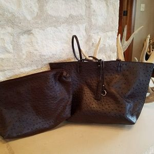 Brown tote with bonus bag